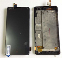 Wholesale Zte Z5s - Wholesale- LCD screen display+touch digitizer with frame For ZTE Nubia Z5S mini NX403A NX404H black free shipping