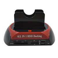 "Wholesale Dual Sata Hdd Docking Station - All In 1 HDD Docking Station Dual USB 2.0 2.5"" 3.5"" IDE SATA External HDD Box Hard Disk DRIVE Enclosure Card Reader"