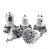 e14 lâmpada led cree 5w venda por atacado-O CREE conduziu os bulbos 4W 5W Dimmable GU10 MR16 E27 E14 GU5.3 B22 conduziu a luz do ponto - o downlight conduzido