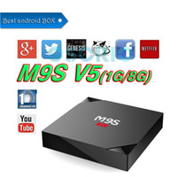 Tv internet Prix-Rockchip RK3229 M9S V5 Android Box Quad Core Android 6.0 OTT TV Box 1gb 8gb KD17.3 Full WiFi WiFi WiFi 4K Google TV BOX VS T95Z