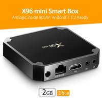 Wholesale s905W Android TV Box X96 mini S905W GB GB with Android7 OS G WiFi K video streaming KD fully loaded