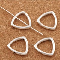 Wholesale Diy Frame Pendant - Open Triangle Bead Frame Charm 200pcs lot 14.9x14.9mm Antique Silver Pendants Jewelry DIY L807