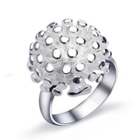 Wholesale Sterling Silver Fireworks Charm - Wedding Ring Sterling Silver Statement Fireworks Hermosa Women Fashion Jewelry Prom Gift Charms Bling Jewelry Band Size 6 7 8 9