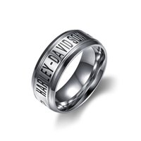 Wholesale biker ring jewelry resale online - 316L stainless steel biker ring for men s jewelry hip hop jewelry for