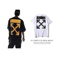 Wholesale Off White T Shirt Mirror New Tag High Quality Off White Trond Life Tshirt Men Streetwear Loose Design Off White T Shirt