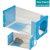 Wholesale Box Trap - Wholesale-New Patent High Efficient Rat Trap Box Mice Catcher Catch Mouse Bottle Humane Pest Control Tools No Blood No Disgusting Smell