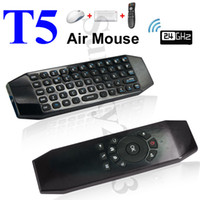 T5 Wireless Air Mouse Mini teclado com controle remoto Smart Mic para Android TV Box Mini PC MXQ M8S A95X X92 HTPC IPTV Xbox Gamepad VS i8