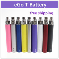 Wholesale Ego Atomizer Colors T - EGO Battery for Electronic Cigarette E-cig Ego-T 510 Thread match CE4 atomizer CE5 clearomizer CE6 650mah 900mah 1100mah 9 Colors