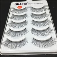 Wholesale best natural fake eyelashes for sale - Group buy 5 Pairs New Natural Long Black Cross Soft Eyelashes Makeup Handmade Thick Fake High Quality Best Charming Beauty