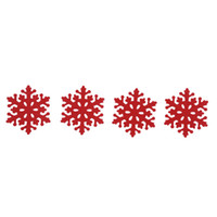 Wholesale Dinners Coaster - Wholesale- Hot Sale 4pcs set Christmas Snowflake Shaped Coaster Mat Anti-Skid Pad Table Placemat Dinner Decor For Home Party Decoration