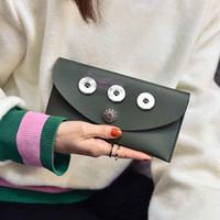 Wholesale Bags Snaps - Brand New 02 Bag Snap Button Purse Pu leather Wallet Bags Charms Bracelet Jewelry for women fit 18mm button 20cm*10cm *1cm