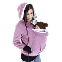 Wholesale Multi Functional Baby Carrier - Maternity Kangaroo Multi-Functional Hoodie with Babies Carrier for Women Pregnant Pregnancy Warm Winter Baby Carrier Zipper Coat