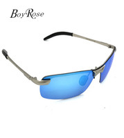 Wholesale Blue Ray Pc - Brand BoyRose Blue Lenses Luxury Sun glasses For mens Fashion Evidence Rays Sunglasses Designer Glasses Eyewear For men Women Bans 3043 Case