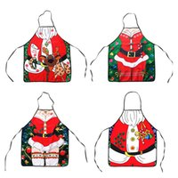 Wholesale Funny Apron Christmas Aprons Adult Santa Claus Aprons Women And men Dinner Party Cooking Apron Cozinha Tablier