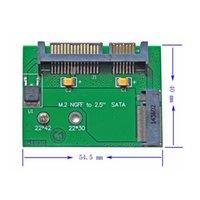 "Wholesale Half Ssd - 100 pieces lot Low profile Half Height NGFF Mini PCI-E 2 Lane M.2 SSD to 2.5"" SATA 22pin hard disk Drive PCBA"