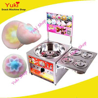 Wholesale Candies Machine - Commercial Flower Shape Cotton Candy Machine Gas Type Fancy Candy Floss Machine Battery Drive Cotton Candy Maker Popular Snack Food Maker