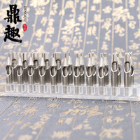 Wholesale Stainless Tattoo Nozzle Tips - High Quality Professional 22Pcs Tattoo Stainless Steel Tips Regular Nozzles One Set 22 Sizes Tattoo Supply TG3121