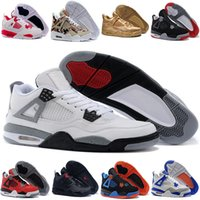Air retro 4 uomini Scarpe da basket Militare Motosports blu Alternate 89 Soldi puri Bianco Cemento Royalty allevati Fire Red Black Cat oreo sneakers