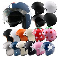 Wholesale Helm Scooter - LL#07 TOP Quality Vintage Approved OFF Road Cycling Moto Helm Open Face Casque Scooter Bicycle Casco Motorcycle Helmet Adult Moto Helmet