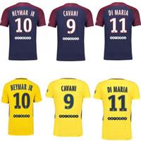 Top thai Neymar JR 2017 2018 home DANI ALVES DI MARIA Soccer Jerseys 17 18  maillots Away Yellow VERRATTI CAVANI MBAPPE Football Shirts ... 1b585f1fe