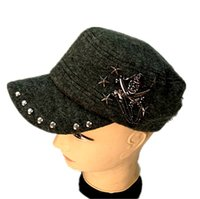 Wholesale Wholesale Vintage Beanies - New Winter Women Hat Vintage Berets Wool Diamond Skull Caps Pillbox Hat Gorras Hats Beret Boinas Mujer Wool Beanie Hat 77