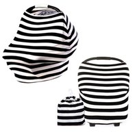 Striped blue and black seat covers - 5pcs Small Shopping Cart and Nursing Cover Stretchy Material Multi use Baby Car Seat Cover Universal