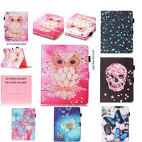 Wholesale Apple Ipad Magnetic Cover - For Apple Ipad 2 3 4 Case PU Leather Flip Stand Magnetic Wallet Card Slot Skull head Case For iPad2 iPad3 iPad4 Shockproof Cover