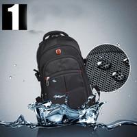 Wholesale Waterproof Business Backpack - new arrival waterproof oxford swiss Backpack Men 15 inch Laptop bag sac a dos men backpacks sport Travel school outerdoor Business bag black