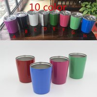 Wholesale 9oz Vacuum Insulated Double Wall Stainless Steel Lowball Wine Tumbler oz with lid with straw oz kid mug cup