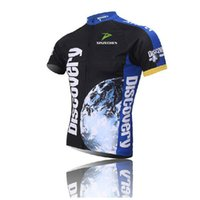 Wholesale Cycling Team Discovery - New Bicycle Jerseys Team Cycling Jerseys Short Sleeve Shirt DISCOVERY Summer breathable men's Cycling Clothing Roupa Ciclismo E1901