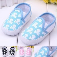Wholesale Infant Boy Skull Shoes Wholesale - Wholesale- Newborn Infant Baby Skull Animal Shoes Boy Girl Shallow Pre-walker Shoes First Walkers For 0-18M