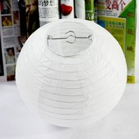 Wholesale Paper Lanterns 16 Inch - White Color style paper lanterns 16 inch(40cm) 100pcs lot wedding lanterns paper lampshade holiday party supplies