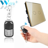 Wholesale mini wireless remote control switch resale online - New WeLink Light Touch Switch UK V Gang1way Wall Switch Wireless Remote Control by mini remoter for Smart Home
