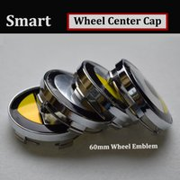 Wholesale Smart Car Fortwo - HOT 60mm 2.36inch Car Wheel Hub Emblem Cover Auto Wheel Center Logo Cap for smart fortwo forfour 2013 2014 2015 2016  Roaster car styling