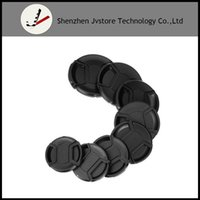 Wholesale Camera Lens Filters 58mm - 49mm 52mm 55mm 58mm 62mm 67mm 72mm 77mm Center Pinch Snap-on Front Lens Cap For Camera Lens Filters + String 49 52 58 67 72 77
