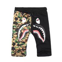 Wholesale Hot Pants Japan - Fashion Hip-hop Short Pants Sell Like Hot Cakes Men's Shark Head Japan Luminous Camouflage Loves Trousers Flight Zip Sports Pants..
