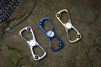 Wholesale finger spinner steel for sale - Group buy Y START clip finger spinner with ball bearing steel handle outdoor EDC tool