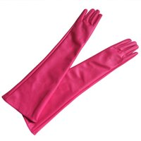 Wholesale Leather Elbow Fingerless Gloves - Wholesale- 1*Pair Ladies Opera Party Over Elbow Glove PU Leather Long Glove