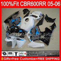 Wholesale purple fairings for honda cbr resale online - Graffiti blue Gifts Colors Injection For HONDA CBR RR CBR600RR HM23 CBR RR F5 CBR600F5 CBR600 RR Fairing