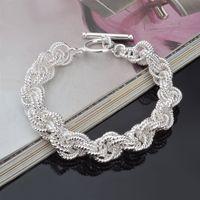 gümüş takılar düşük fiyatlarla toptan satış-Yüksek kalite düşük fiyat 925 gümüş bilezikler yüksek sınıf toptan moda gümüş bilezikler Düğün Parti Kadınlar Takı Için