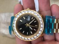 Wholesale Watch Cases China - HOT gold diamond bezel china automatic men watch big case sport Stainless steel fashion brand new luxury wristwatch men's Watches