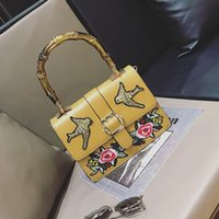 Wholesale Embroidery Bamboo - original SuFeng embroidery bamboo package bump color restoring ancient ways embroidery joker woman single shoulder bag handbag fashion
