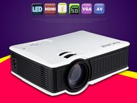 Wholesale Video Meetings - Owlenz Newest Unique 1500 Lumens SD50+ SD50 Plus Mini Portable LCD Projector HDMI   VGA Home Theater Beamer Meeting Projector DHL free