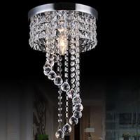 merdiven tavan toptan satış-20/25 cm Kristal Avize Işık Modern Tavan Lambası Fikstür Gömme Montaj Tavan Işık Lambası Koridor Merdiven Koridor için Sundurma Işıkları