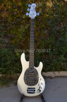 Wholesale Electric Guitar Musicman - Wholesale-Shelly new store factory custom silver MusicMan StingRay 4 string bass 9V battery electric bass guitars musical instruments shop