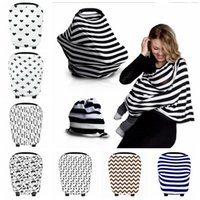Wholesale Pram Covers - Baby ins Stroller Pram Car Seat Cover Breathable Shade Canopy Blanket Travel Bag By Cover Breastfeed Nursing Covers 27style