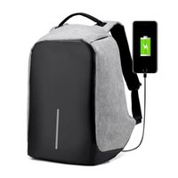 Wholesale Nylon Bag Business - USB Charge Anti Theft Backpack Men Travel Security Waterproof School Bags College Teenage Male 15inch Laptop Backpack