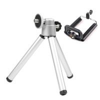 kamera montaj standı toptan satış-Zamanlayıcı Teleskopik Tripod + Klip Standı Braketi Tutucu Dağı Adaptörü Için Cep Telefonu Kamera Balıkçılık Lamba Teleskop