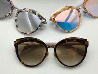 Wholesale Offset Style - New fashion lady sunglasses brand designer sunglasses DC OFFSET 2 cat eye frams coated reflective lens uv 400 summer style with box