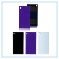 Wholesale Cover For Spare - DHL Shipping 50pcs lot New Replacement Glass Battery Case Door Housing For Sony Xperia Z1 L39H C6902 C6903 Rear Glass Back Cover Spare Parts